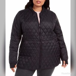 NWT Calvin Klein Quilted Hooded Plus Size Coat CK8